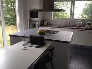 quelle couleur de mur pour cuisine blanche avec sol gris With cuisine blanche sol gris