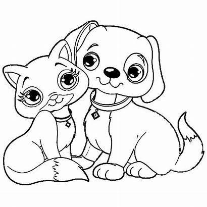 Coloring Dog Pages Puppy Cat