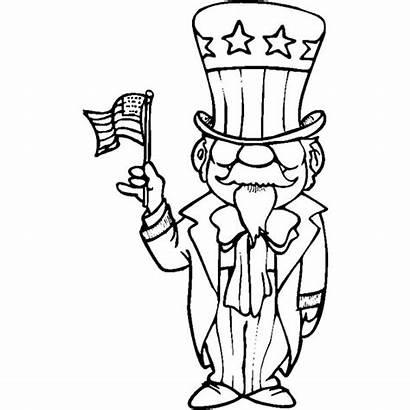 Sam Coloring Uncle Colorir Tio Drawing Americana