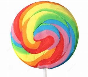 Swirl Spiral Lollipop Rainbow Large x 10