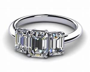 New ideas diamond engagement rings with emerald cut three for Best wedding band for emerald cut engagement ring