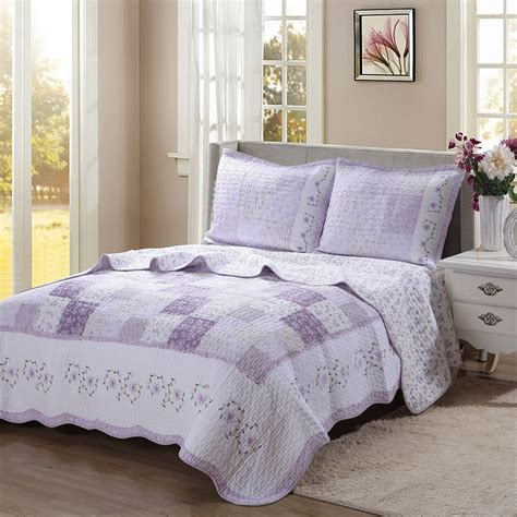 Lavender Coverlet by Lavender Comforters Ease Bedding With Style
