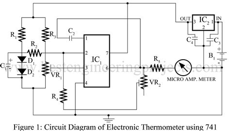 Electronic Thermometer Circuit Engineering Projects