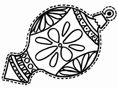 Coloring Ornaments Christmas Ornament Pages Printable Drawing