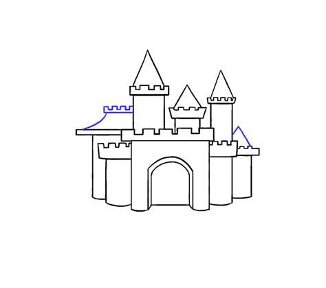 draw  cartoon castle    easy steps easy