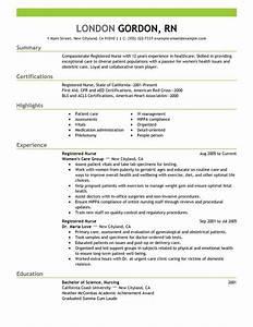 Registered Nurse Resume Sample work