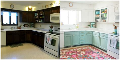 cheap kitchen makeover ideas before and after this bright and cheery kitchen renovation cost just 250 cheap kitchen ideas