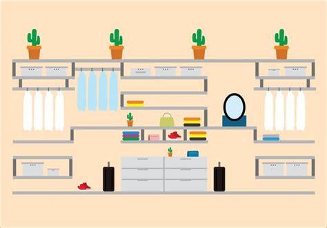 modern flat dressing room icons   vectors