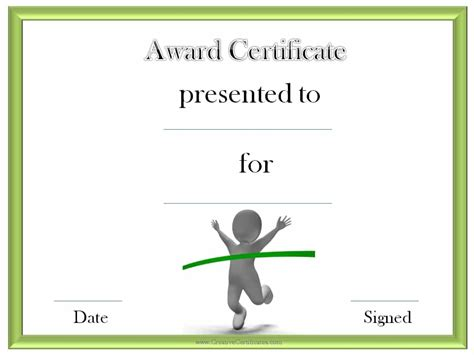 Run Certificate Template by Track And Field Certificate Templates Free Customizable