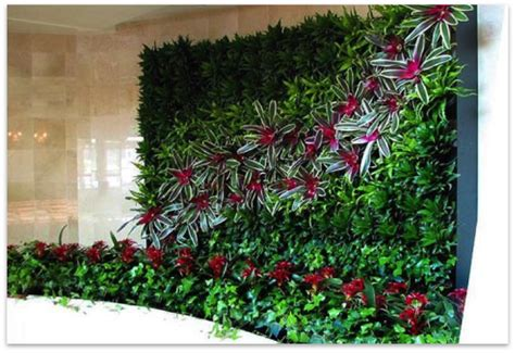 gambar desain konsep taman vertikal vertical garden