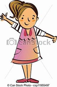 Lady Standing Up Clipart