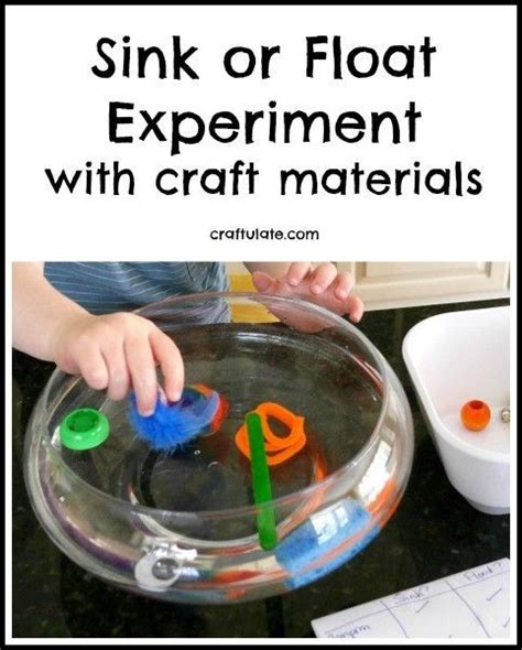 sink or float experiment sink or float experiment with craft materials crafts