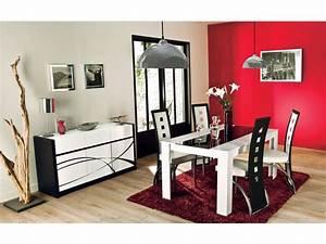Buffet Salon Conforama : buffet 3 portes 3 tiroirs dallas coloris blanc noir vente de buffet bahut vaisselier ~ Teatrodelosmanantiales.com Idées de Décoration