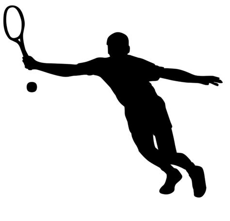 tennis player clipart black and white tennis silhouette clip 22