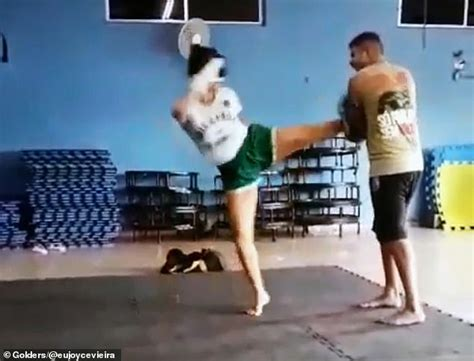 Female Mma Fighter Punches Fan Performing A Sex Act