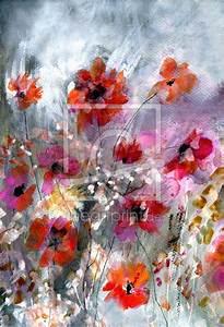 Aquarell Blumen Malen : 55 besten blumen malen aquarell acryl bilder auf pinterest ~ Frokenaadalensverden.com Haus und Dekorationen