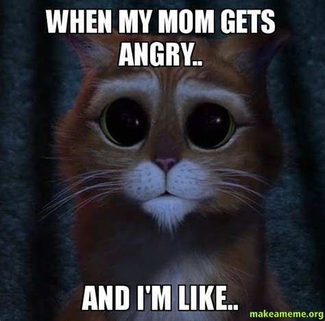 Angry Mom Meme - when my mom gets angry and i m like make a meme