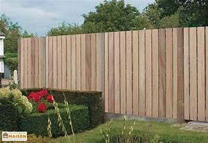 Panneau De Cloture En Bois : panneau en iroko burton 180 x 180 cm gardival ~ Premium-room.com Idées de Décoration