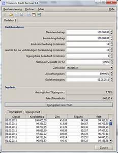 Tilgungssatz Berechnen : funktionen hilfe und screenshots zum baufinanzierungsrechner ~ Themetempest.com Abrechnung