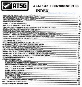 Allison 1000    2000 Transmission Rebuild Manual  2000  U0026 Up