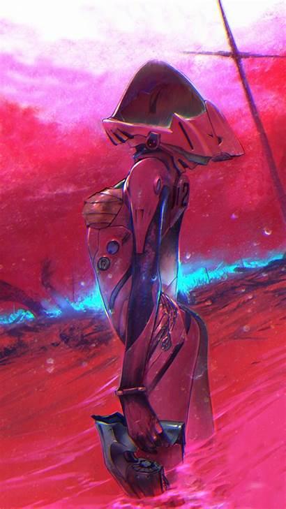 Evangelion Asuka Desktop Neon Genesis Arte Anime
