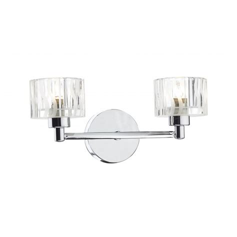 modern chrome wall light with glass shades