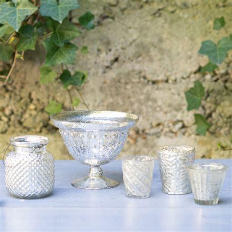 gold mercury glass compote prop shop seascape flowers