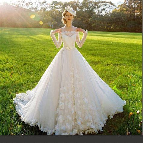2016 wedding dresses the shoulder sleeve real