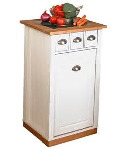 kitchen island with cutting board wooden trash cans for the kitchen