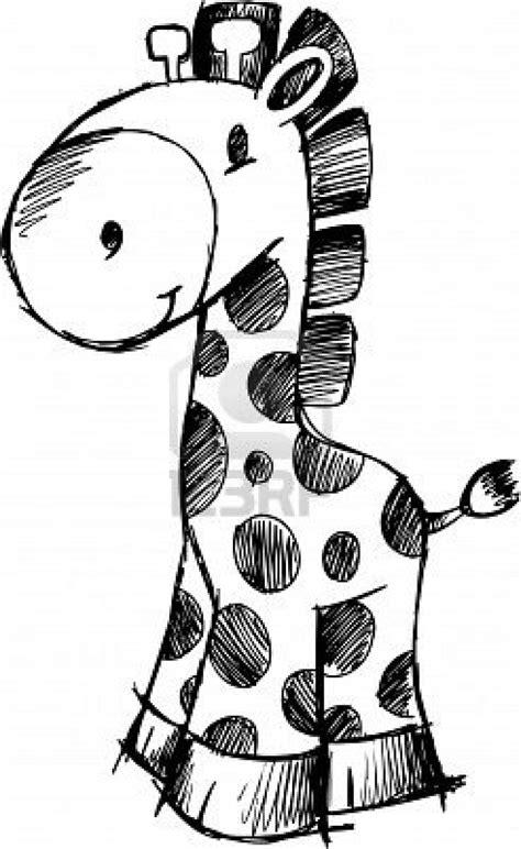 sketchy giraffe illustration   mommy book