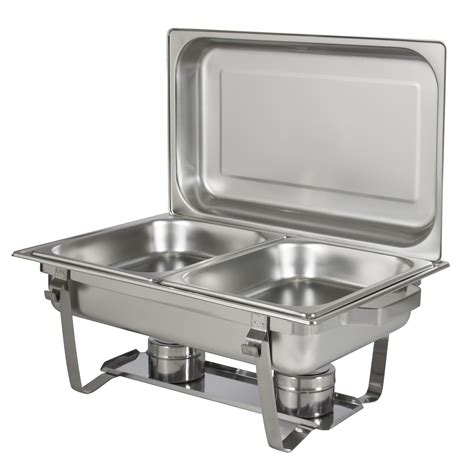 Chafing Dish Set Of 2 8 Quart Stainless Steel Full Size