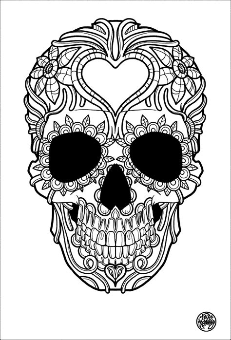 Adult Coloring Pages Skulls Az Coloring Pages
