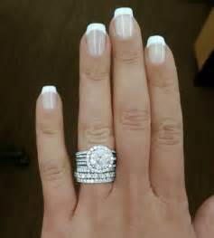 wedding and engagement rings engagement ring with 3 78carat plus wedding band and band for each child