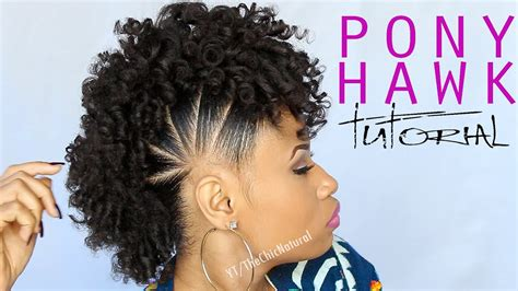 pony hawk natural hairstyle youtube