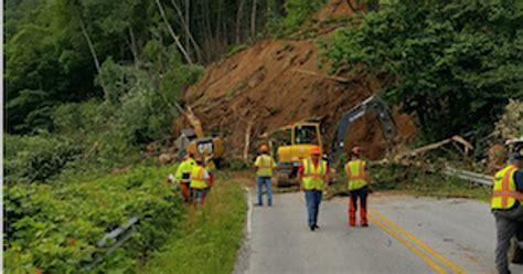 bat cave mudslide so big that it ll take a new road to clear nc 9