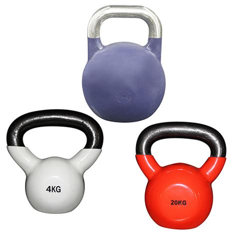 mixed kettlebells