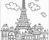 Tower Eiffel Coloring Pages Printable Paris Drawing Getdrawings Getcolorings sketch template