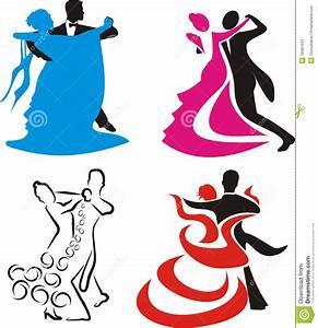 Danse logo et silhouette illustration de vecteur Image du silhouette 18491634