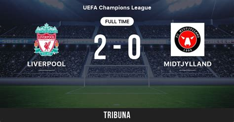Liverpool - Midtjylland: Live Score, Stream and H2H ...