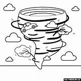 Tornado Coloring Inspirations Weather Nature sketch template