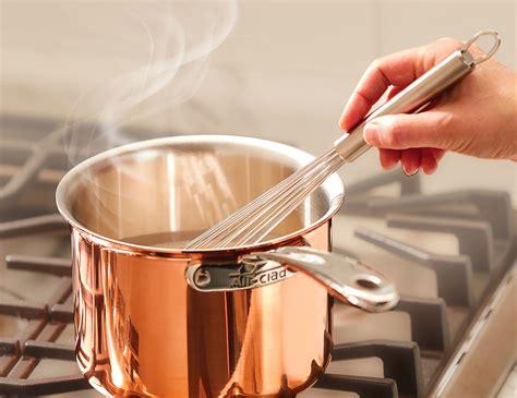 clad copper cookware set  piece  clad