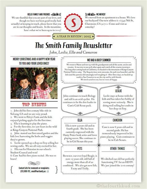 newsletter template    print year  review