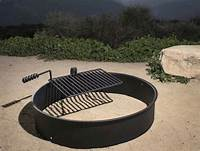 """fire pit rings 24"""" 32"""" 36"""" Steel Fire Ring w/ Cooking Grate Campfire Pit ..."""