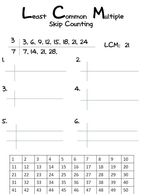multiples worksheets finding common multiplesmultiples