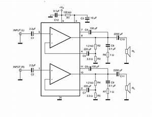 Tda2005 Stereo Amplifier Circuit Diagram