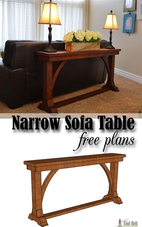 narrow sofa table narrow sofa table diy sofa table