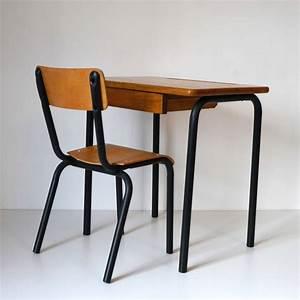 Bureau Ecolier Noir La Marelle Mobilier Vintage Pour