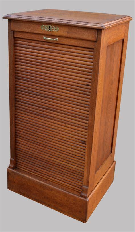meuble rideau bureau classeur de bureau ancien fermant par un volet coulissant