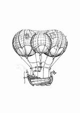 Airship Drawings Blimp Drawing Steam Limited Edition Prints Steampunk Aaron Boat Getdrawings Paintingvalley 42cm Pick Etsy sketch template