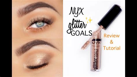 nyx glitter goals liquid eyeshadow review tutorial